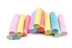 Multicolored chalk Royalty Free Stock Photos