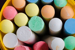 Multicolored chalk Royalty Free Stock Photography