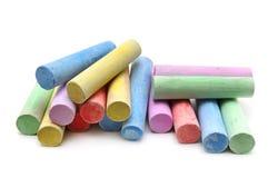 Multicolored chalk Stock Photos
