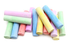 Multicolored chalk Royalty Free Stock Images