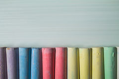 Multicolored chalk stock photography