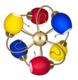 Multicolored chandelier Royalty Free Stock Photos