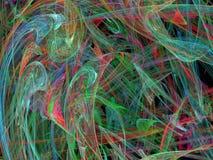 Multicolored chaotic strokes stock image