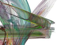 Multicolored chaotic strokes in the form of a fractal stock photos