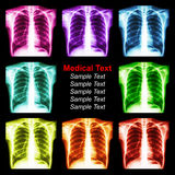 Multicolored chest x-ray background Royalty Free Stock Image