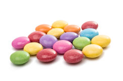 multicolored chocolate pills Stock Photos