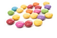multicolored chocolate pills Stock Photo
