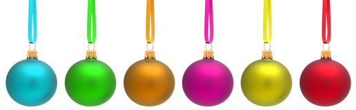 Multicolored Christmas Ball Royalty Free Stock Photos