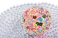 Multicolored christmas ball Stock Photography
