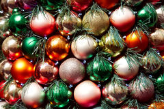 Multicolored Christmas balls Stock Photos