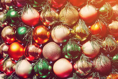 Multicolored Christmas balls Royalty Free Stock Photo