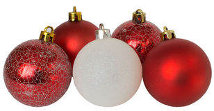 Multicolored Christmas balls. Colored Christmas balls on a white background Royalty Free Stock Photography