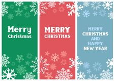 Multicolored Christmas Card Stock Photo