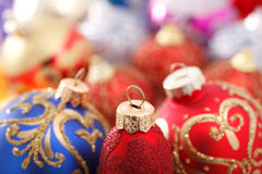 Multicolored Christmas decorations Royalty Free Stock Images