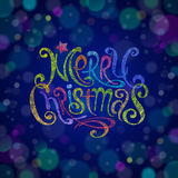 Multicolored Christmas greeting sign Stock Photography
