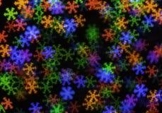 Multicolored Christmas Light Bokeh Stock Photography