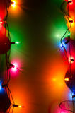 Multicolored Christmas lights Royalty Free Stock Photos