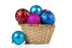 Multicolored Christmas ornaments Stock Photos