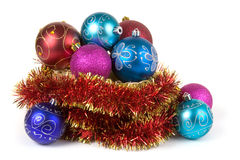 Multicolored Christmas ornaments Royalty Free Stock Photography