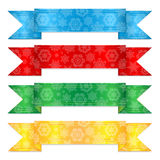 Multicolored christmas ribbons Royalty Free Stock Image