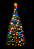 Multicolored christmas tree Stock Photography
