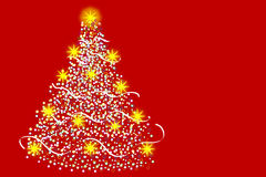 Multicolored Christmas tree Stock Images