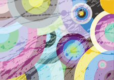 Multicolored circles. Vector background with colored circles royalty free illustration