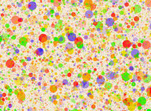 Multicolored circles backgrounds in Chaotic Arrangement Royalty Free Stock Photography