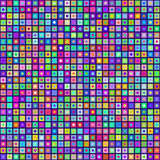 Multicolored Circles Inside Squares Seamless Background. EPS8 Ve Royalty Free Stock Photos