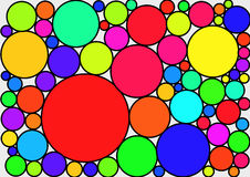 Multicoloured circles together. Illustration of Multicoloured circles together, with a big circle in red vector illustration