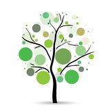 Multicolored circles tree Royalty Free Stock Image