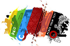 Multicolored City Hip-hop Royalty Free Stock Photo