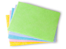 Multicolored Cleaning Cloths Stock Photos