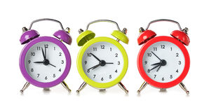 Multicolored clock Royalty Free Stock Photos
