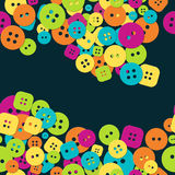 Multicolored cloth buttons pattern Royalty Free Stock Photography