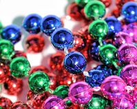 Multicolored cluster of reflective beads Royalty Free Stock Photos