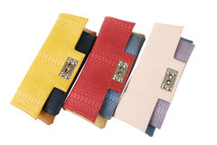 Multicolored clutch bags Stock Photography
