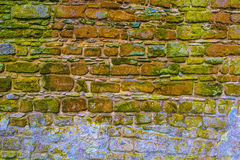 Multicolored Cobblestone wall Stock Photo