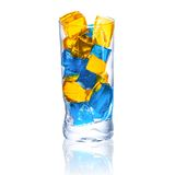 Multicolored cocktail with ice Royalty Free Stock Images