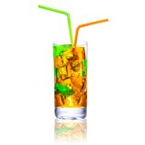 Multicolored cocktail with ice Stock Photos