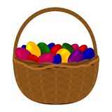 Multicolored colorful eggs for happy easter Royalty Free Stock Images