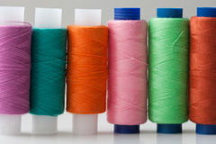 Multicolored colorful thread sewing spools. Multicolored colorful thread (sewing spools).  Close-up, soft focus Royalty Free Stock Photos