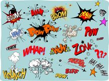 Multicolored comic sound Effects Royalty Free Stock Photo