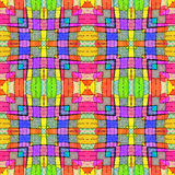 Multicolored Complex Geometric Seamless Pattern Royalty Free Stock Photography