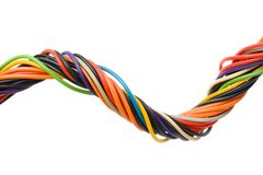 Multicolored computer cable Stock Images