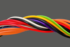 Multicolored computer cable Stock Image