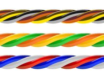 Multicolored computer cable isolated on white Royalty Free Stock Photography