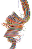 Multicolored computer cable Royalty Free Stock Image