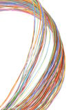 Multicolored computer cable Royalty Free Stock Photo