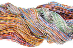 Multicolored computer cables Stock Photography